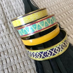 Enamel Bangle Bracelets-Colorful Designs, Perfect